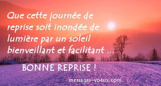 Message Originaux Pour Souhaiter Une Bonne Reprise Et Bon