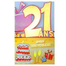 Bon anniversaire 21 ans en image
