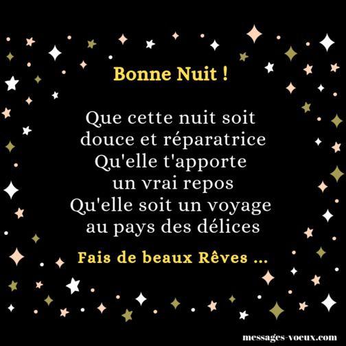 Fais De Beaux Rêves Sms Pour Souhaiter Une Bonne Nuit