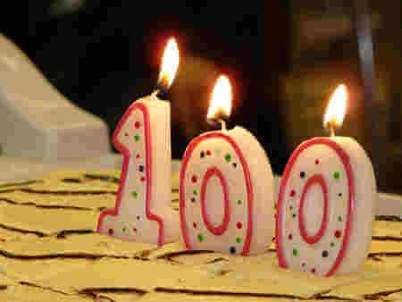 Carte anniversaire Cent ans