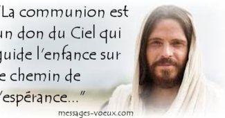 image communion carte chrétienne