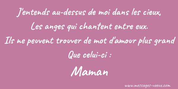 Sms Fête Des Mères Texto Bonne Fête Maman Lettre à Sa Mère