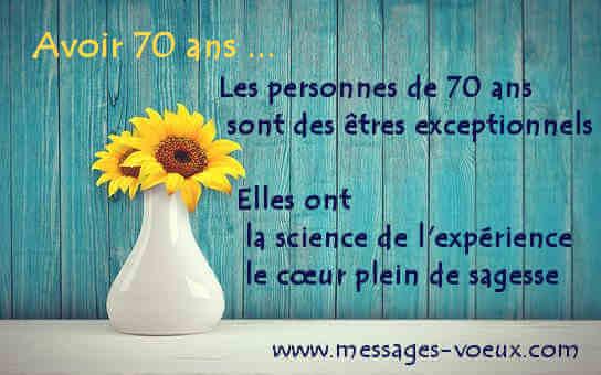 Textes Pour Souhaiter Bon Anniversaire Des 70 Ans Cartes Sms Et Poeme
