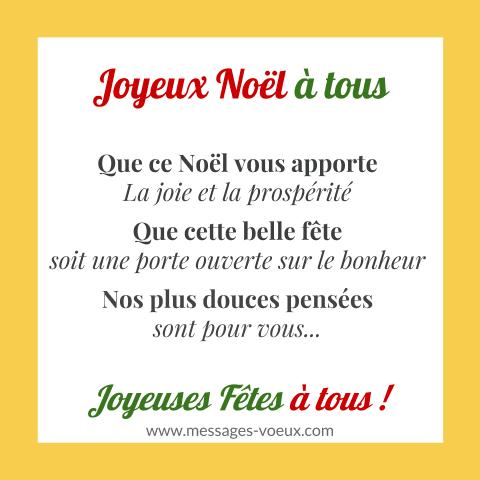 Souhaiter Un Joyeux Noël à Tous Avec Texte Original Pour