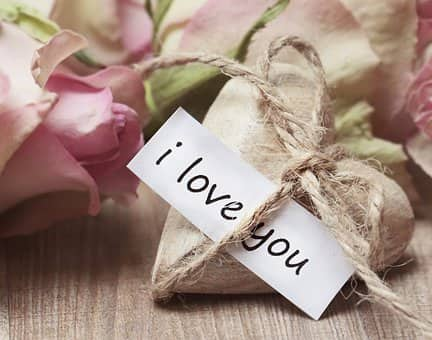 Message amour Je t'aime en anglais